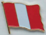 Peru No Crest Country Flag Enamel Pin Badge